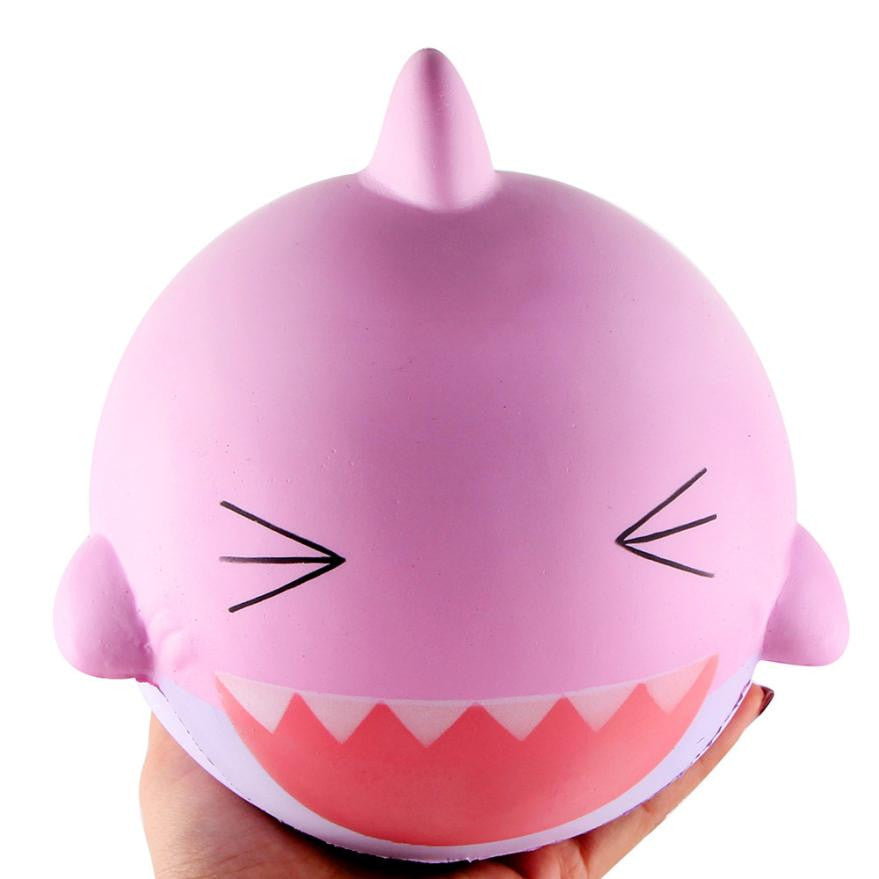 Jumbo happy shark squishy