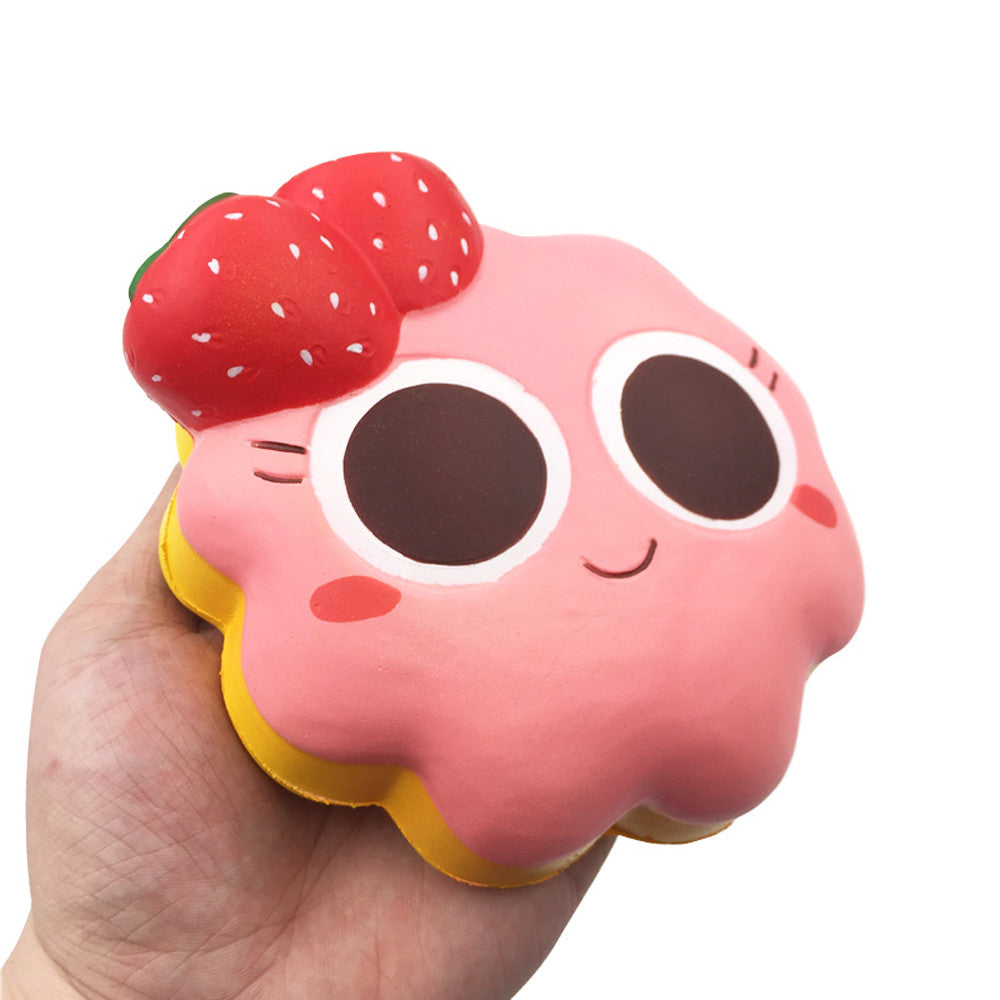 Kawaii strawberry cake squishy