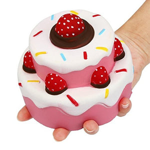 Jumbo Slow Rising Squishies Strawberry Cake