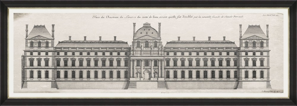 Framed Print - Louvre Facade - Tilly and Tiffen