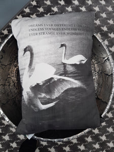 Swan Panel Cushion - Tilly and Tiffen
