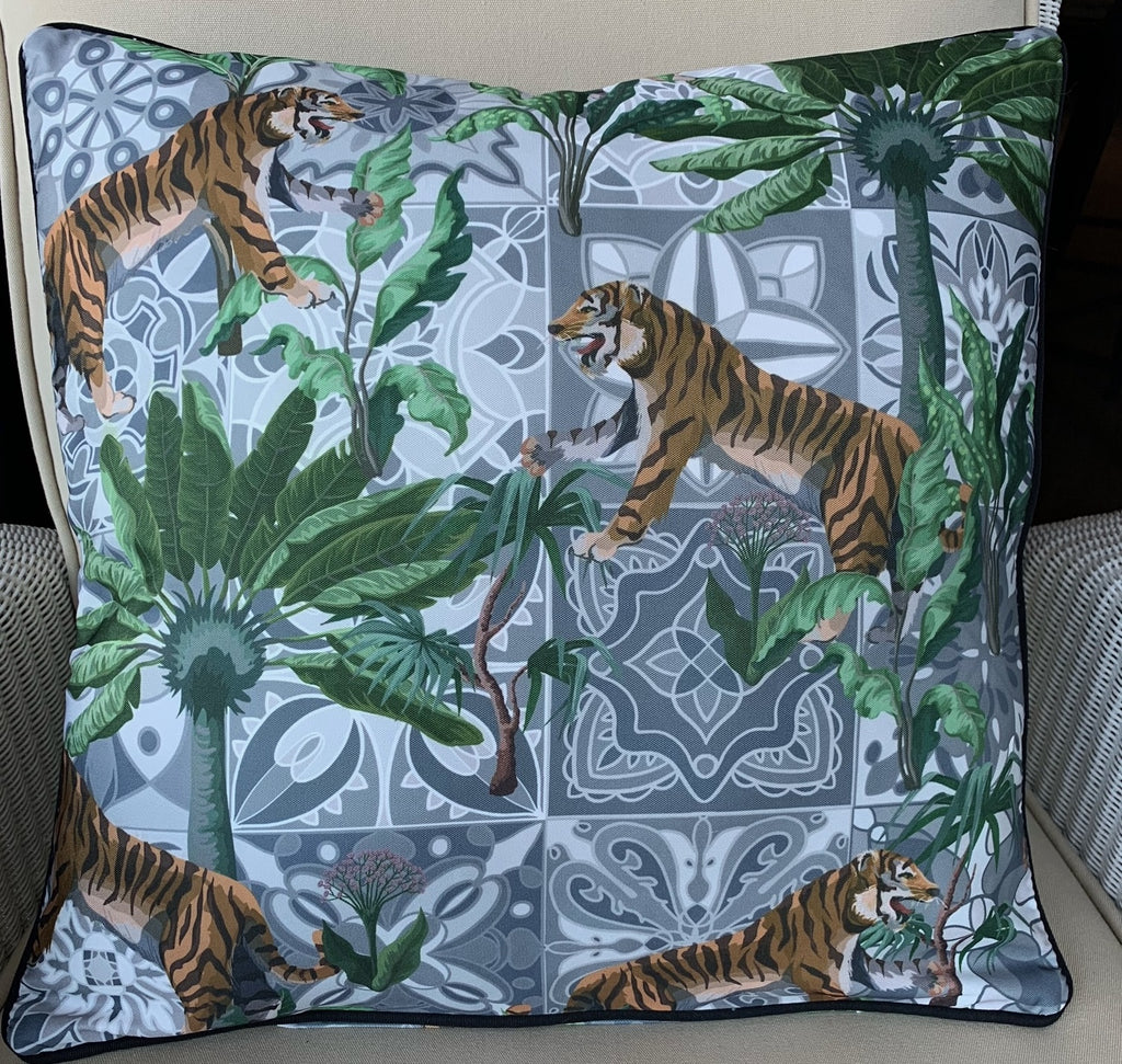 Outdoor Cushion - Bengali Tiger