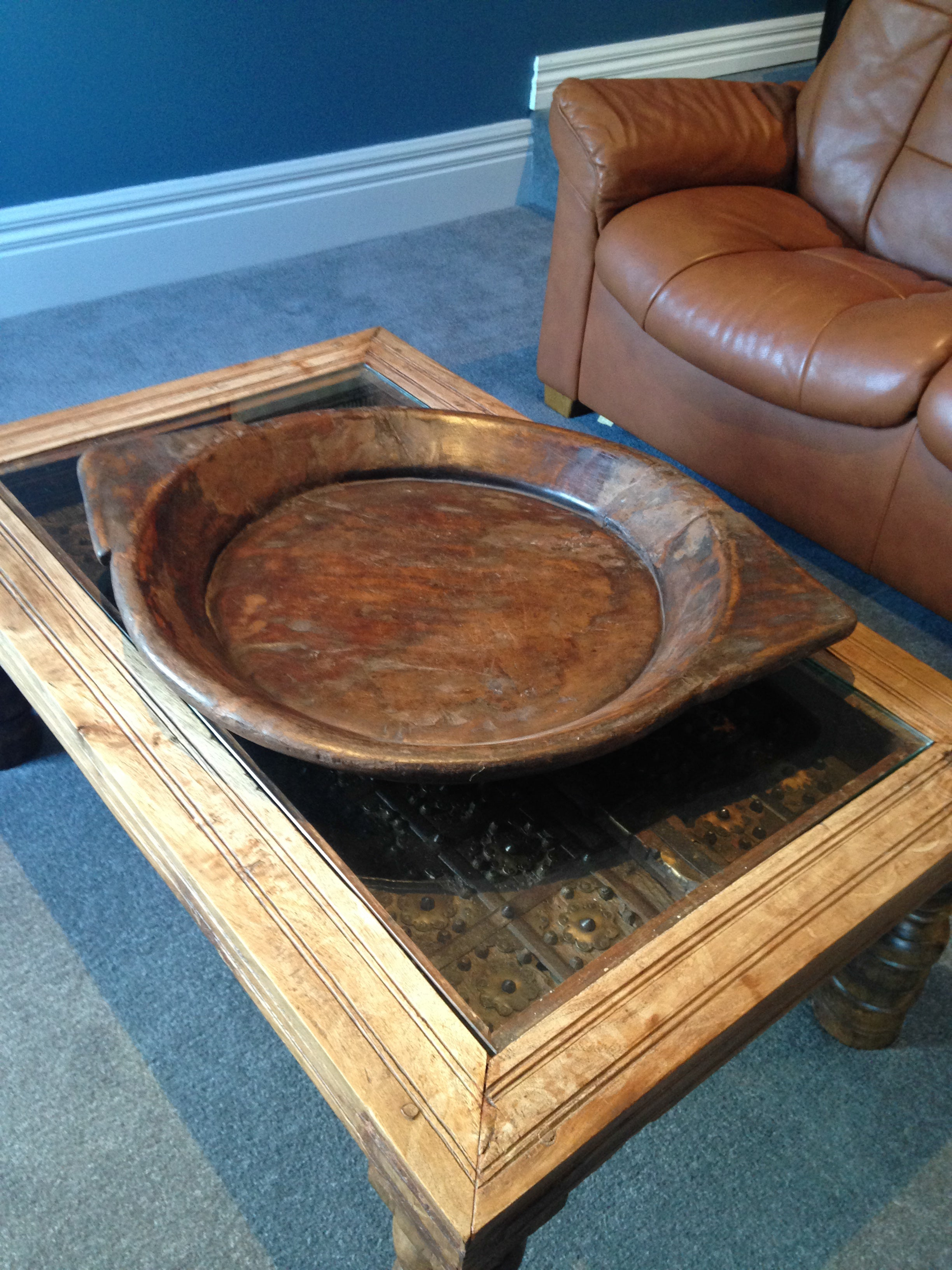 Old Wooden Platter with 2 Handles - Tilly and Tiffen