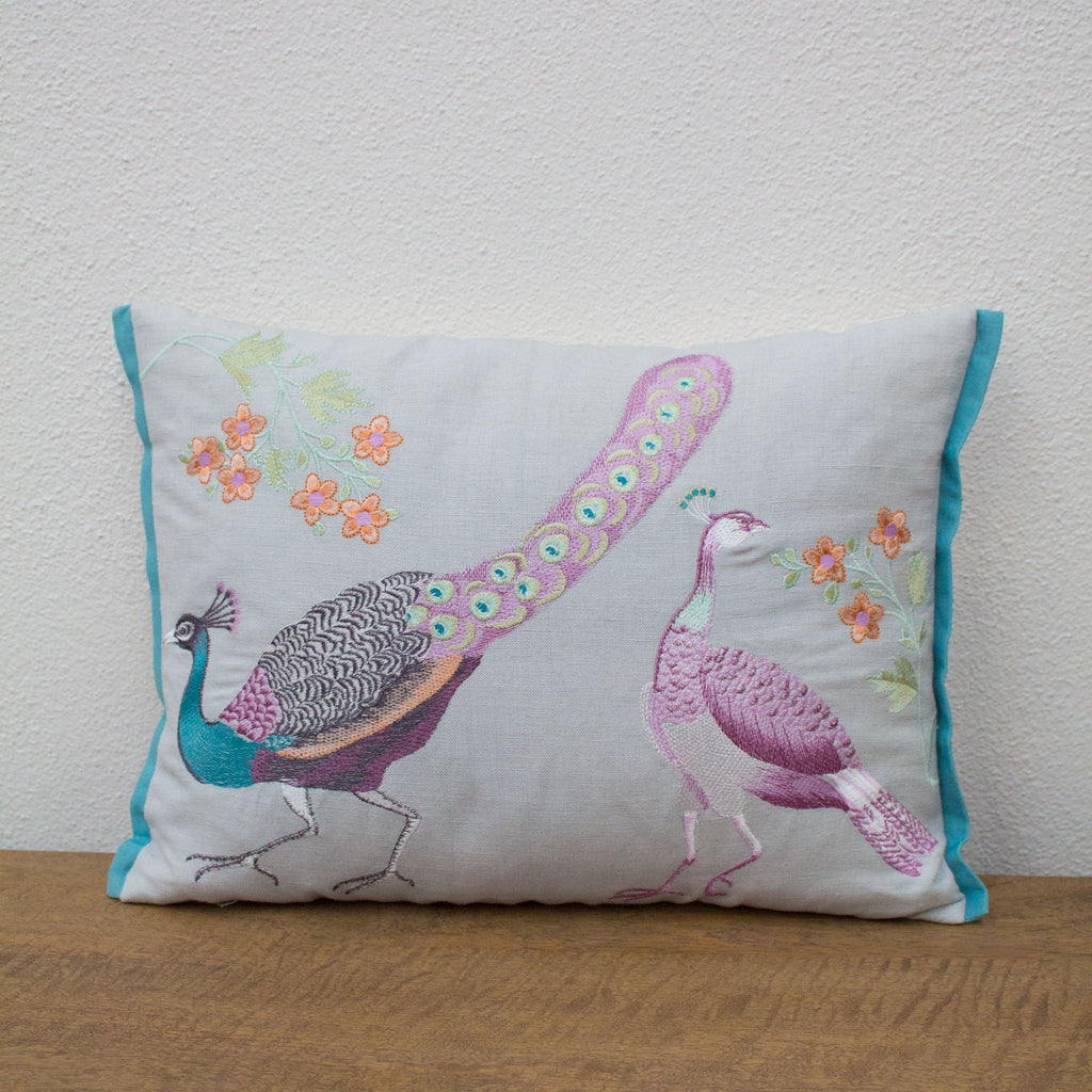 Peacock Cushion - Tilly and Tiffen