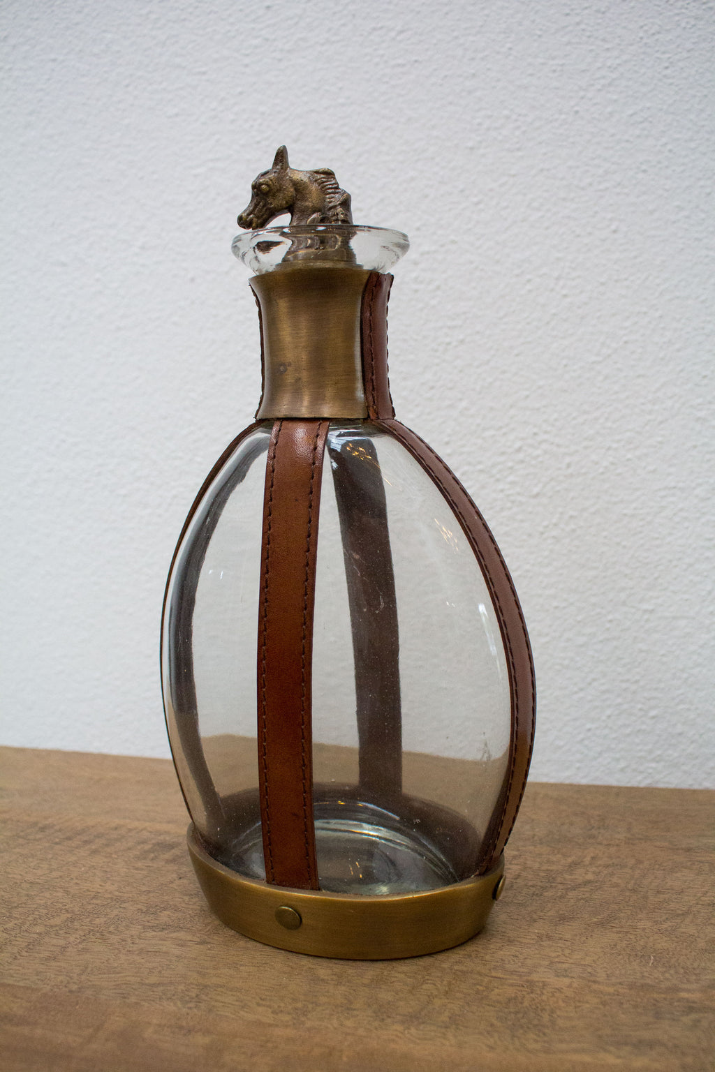 Leather & Glass Decanter - Tilly and Tiffen