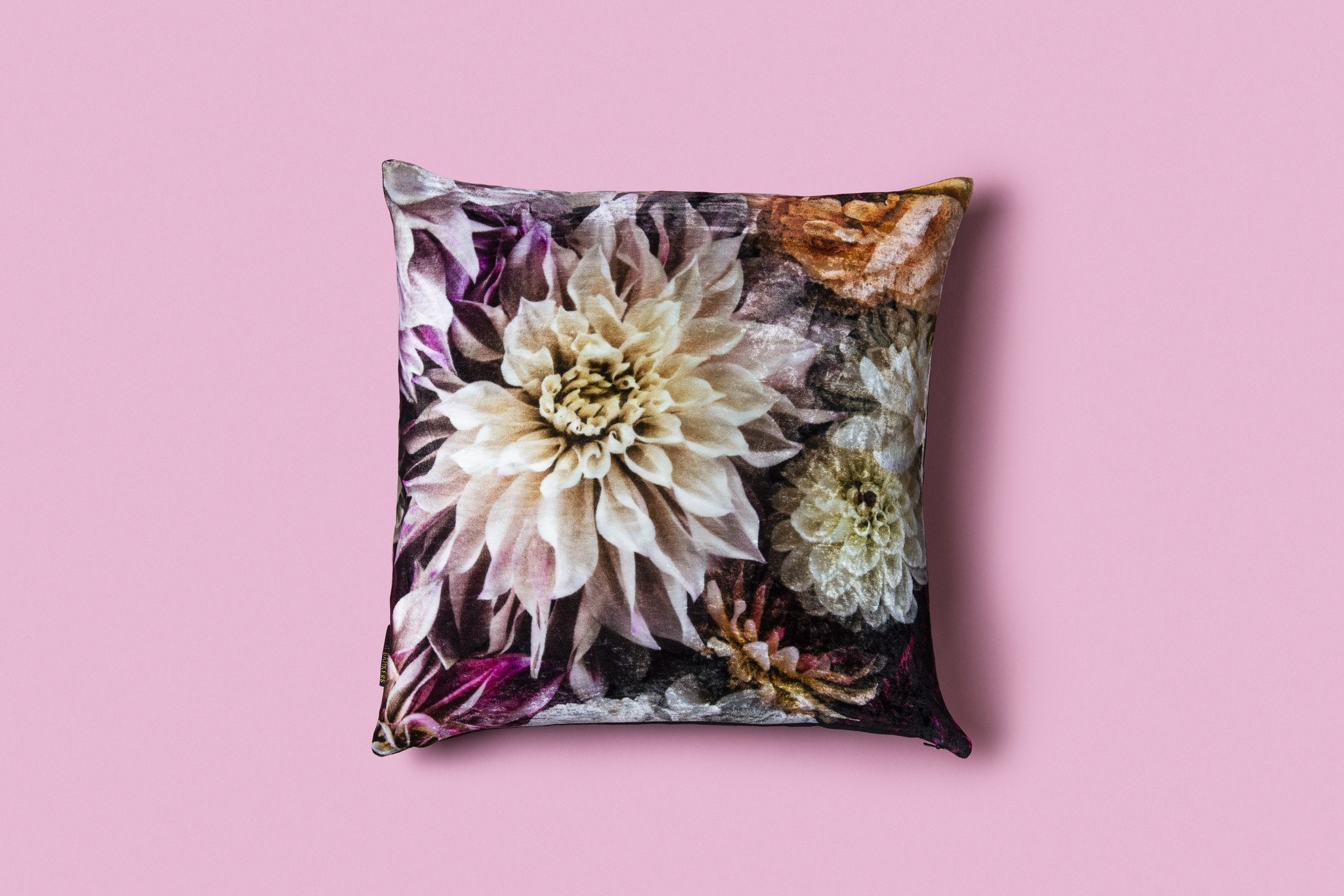 DAHLIA DREAM - SILK VELVET CUSHION COVER - Tilly and Tiffen