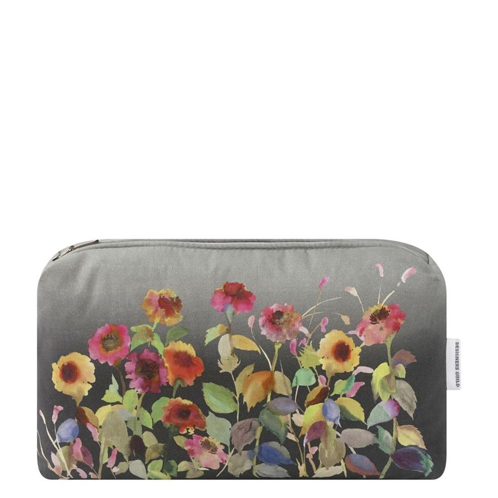 Designers Guild - Indian Sunflower Graphite Medium Washbag - Tilly and Tiffen