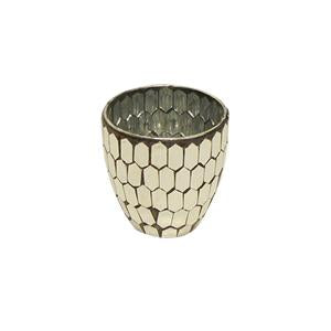 Mosaic Gold Votive Small - Tilly and Tiffen