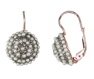 Simply Italian - Pearl & Crystal Mound Earrings