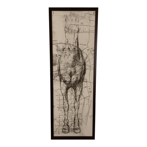 Mystical Horse Narrow with Black Frame - Tilly and Tiffen