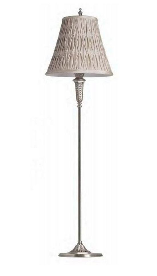 Florentine Silver Floor Lamp - Tilly and Tiffen