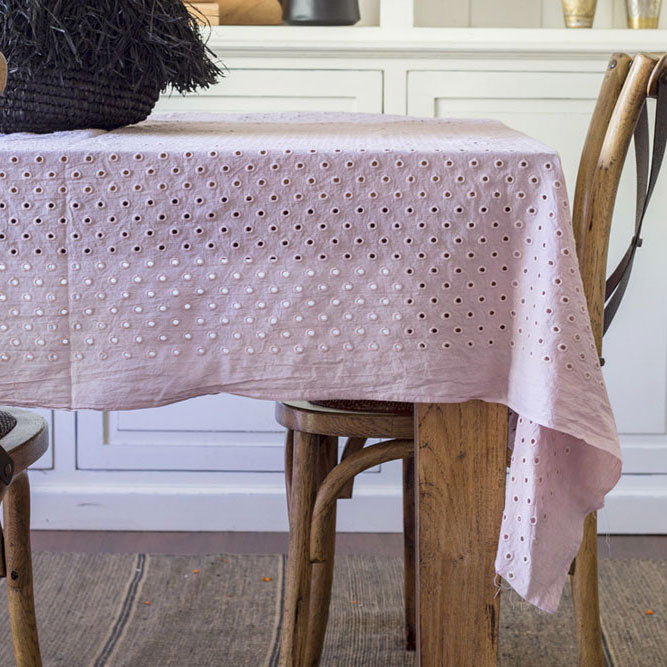 Rose Pink Tablecloth - Tilly and Tiffen