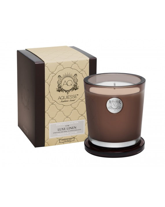 Aquisse Large Candle - Luxe Linen - Tilly and Tiffen