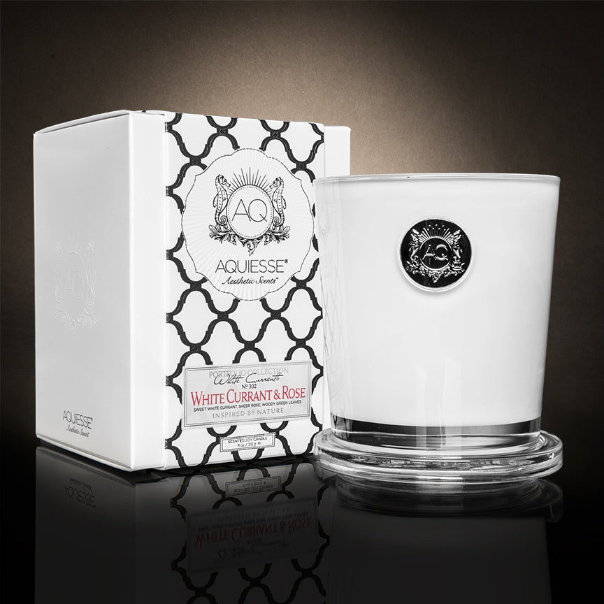 Aquiesse Large Soy Candle - White Currant & Rose - Tilly and Tiffen