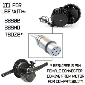 1T1 Cable (w/ 8 Pin Male) for use with TSDZ2 (w/ 8 Pin Female) and all Bafang BBS Motors
