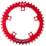 42T Chain Ring for TSDZ2 - Narrow Wide - 10mm Offset - 110 BCD (Red / Future-bike)
