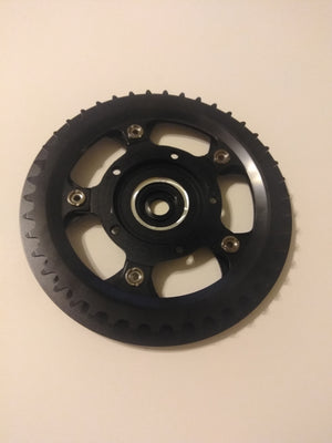 Stock Offset 42T Chainring / Guard / Spider Assembly for TSDZ2 - 110 BCD (Takeoff part)