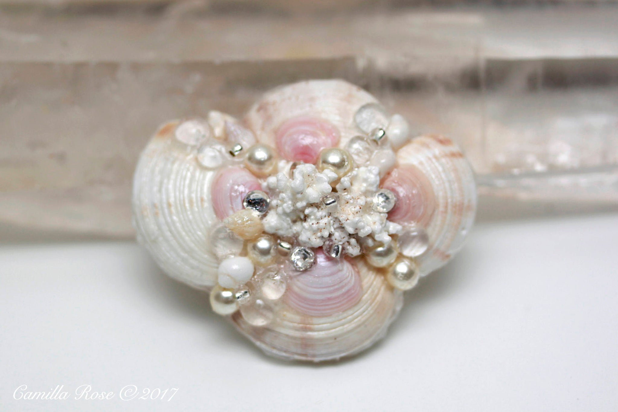 Pastel Heaven Seashell Barrette