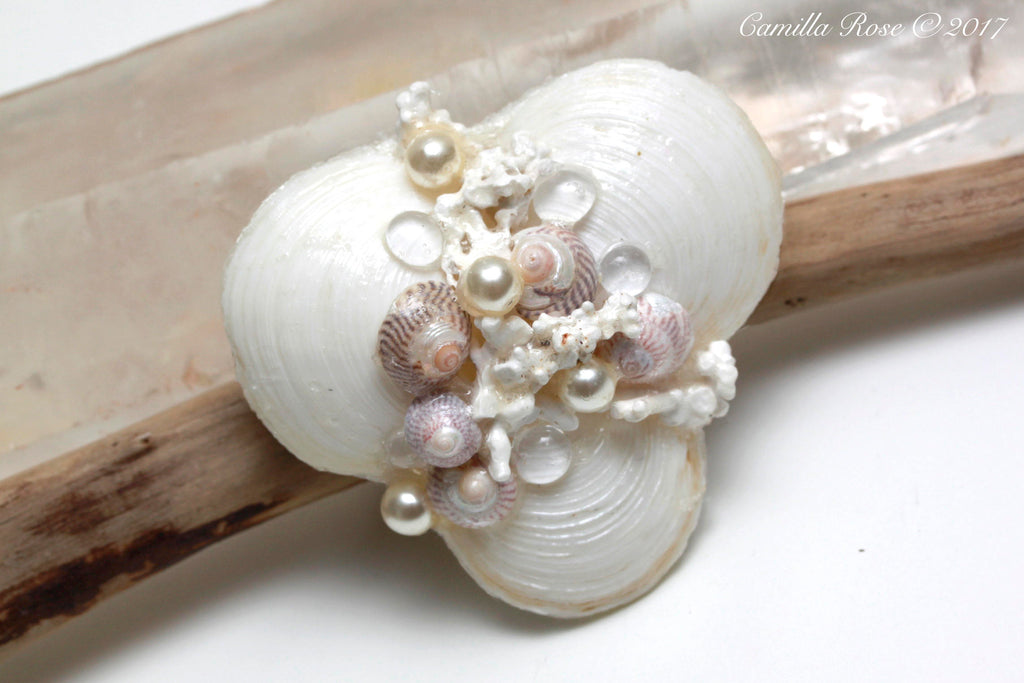 Angelic Light Seashell Hair Barette
