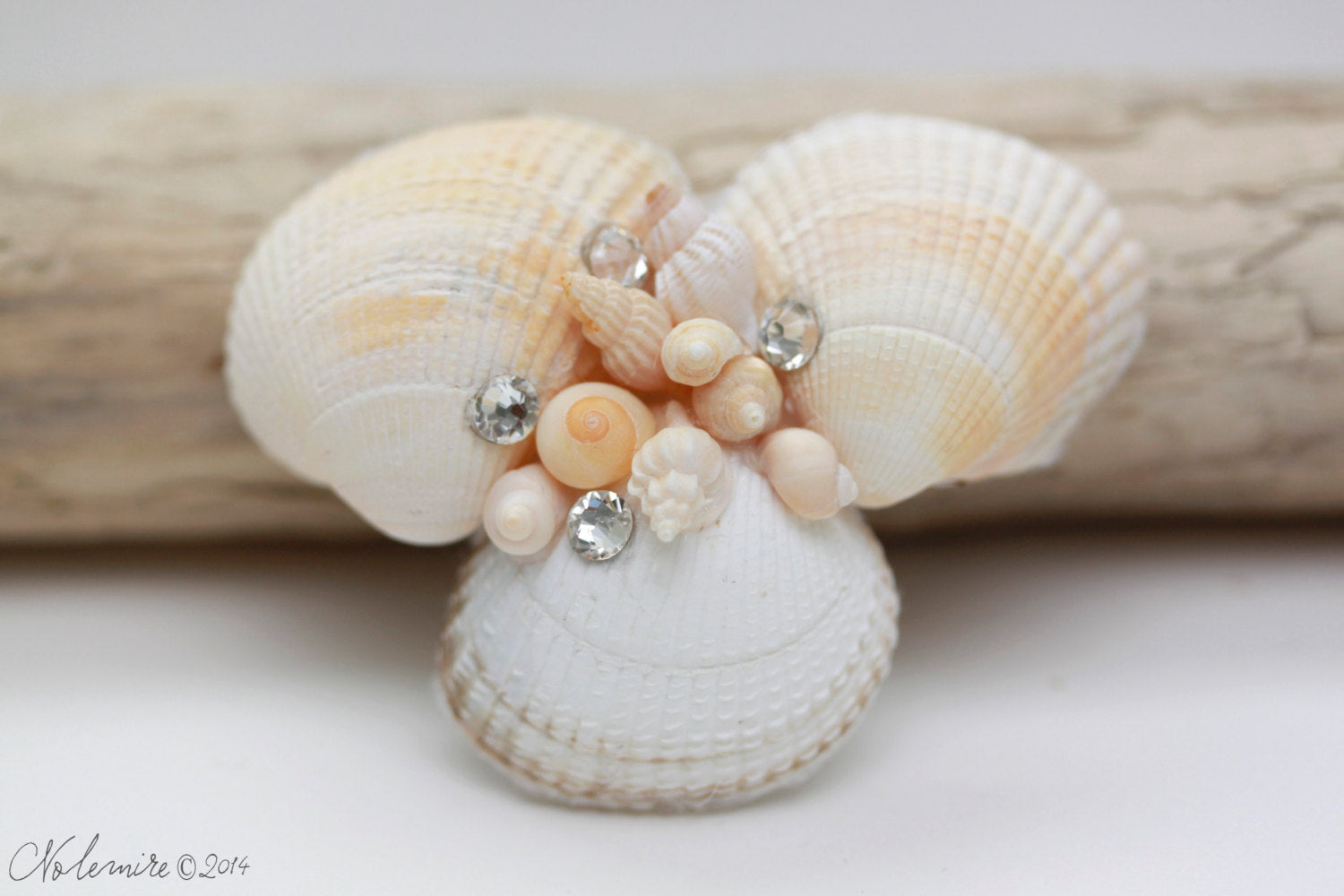 Sea Shell Hair Barrette
