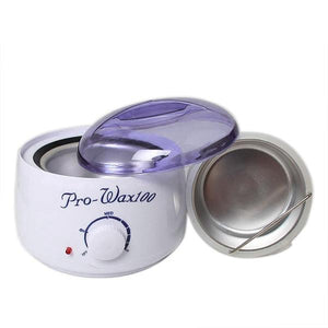 [3 in 1 Bundle] PainlessHardWax™ Wax Warmer + Lavender Wax Beans 100g + 20 Wooden Waxing Spatulas