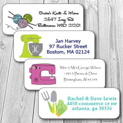 Hobby Personalized Address Stickers