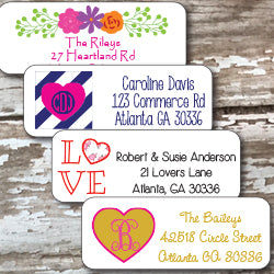 Valentine Personalized Address Stickers