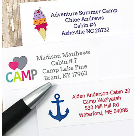 Camp Return Address Stickers