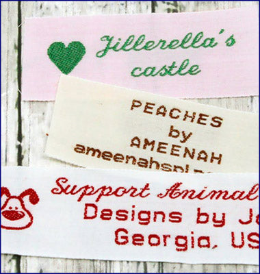 "1"" Cotton Woven Clothing Labels"