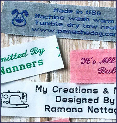 "1"" Personalized Cotton Sewing Labels"