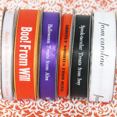 Halloween Personalized Ribbon