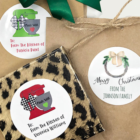 Holiday Personalized Gift Stickers