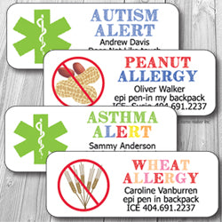 Medical-Allergy Waterproof Stickers