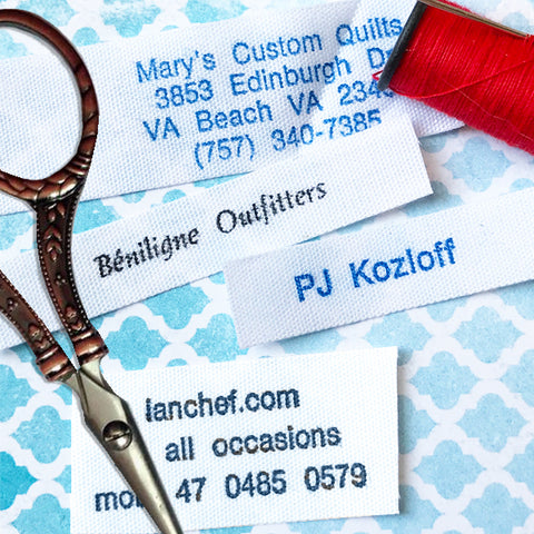 Iron or Sew on Name Labels