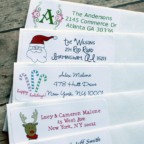 Holiday Personalized Address Stickers