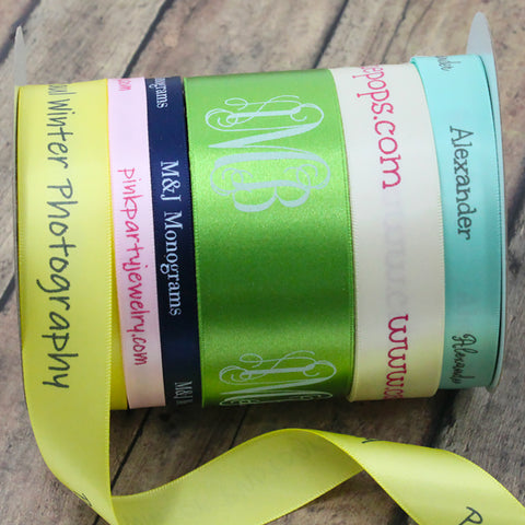 Satin Personalized Ribbons
