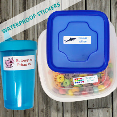 Waterproof Stickers and Labels For Camps Schools Daycares and More