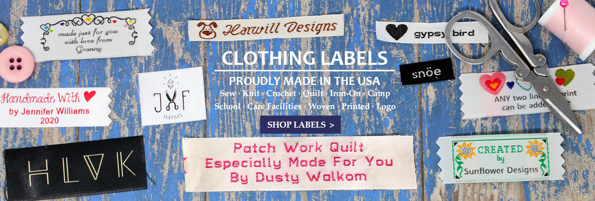 Clothing Labels Proudly Made in the USA