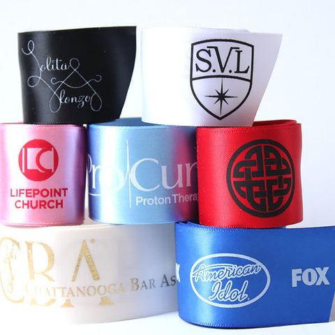 "Custom Logo 1 1/2"" Satin Ribbon"