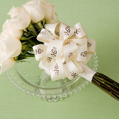 "1 1/2"" Personalized Wedding Satin Ribbon"