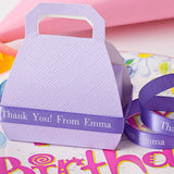 "Personalized Birthday Ribbon 3/8"" - 36 Colors"