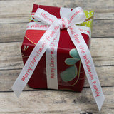 Christmas Personalized Satin Ribbon 3/8""