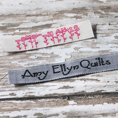 "3/8"" Cotton Logo Labels"