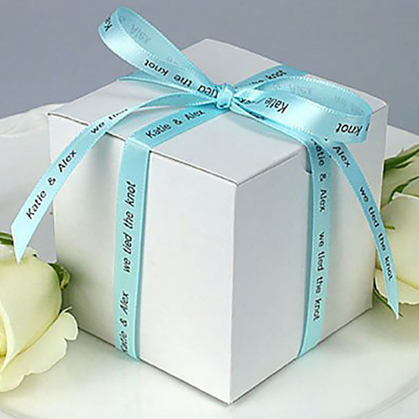 "Personalized Wedding Satin Ribbon 3/8"" - 36 Colors"