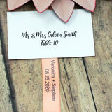 "2 Lines-Personalized Satin Ribbon 5/8"" - 36 Colors"