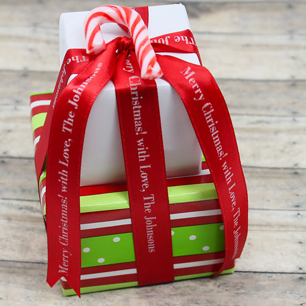 Personalized Satin Christmas Ribbon 5/8""