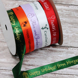 "Personalized Satin Icon Ribbon 5/8"" - 36 Colors"