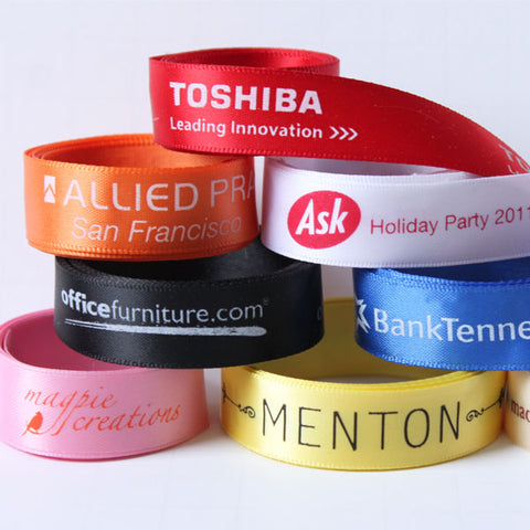 "Custom Logo 5/8"" Satin Ribbon"