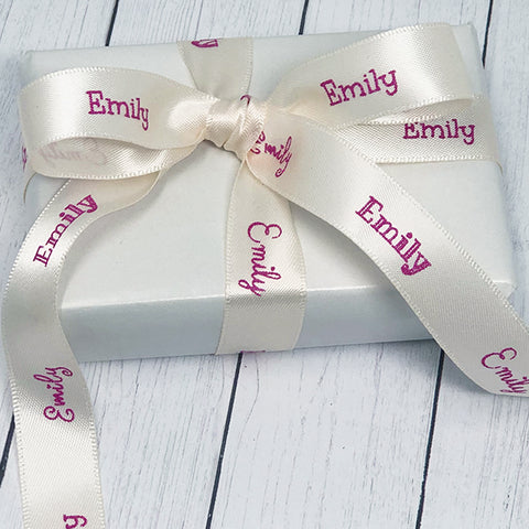 "Valentine 5/8"" Personalized Satin Name Ribbon"