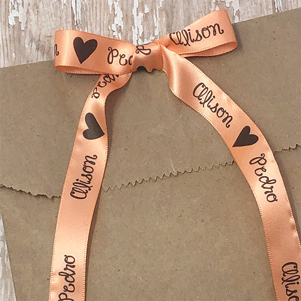 "5/8"" Wedding Heart Ribbon"